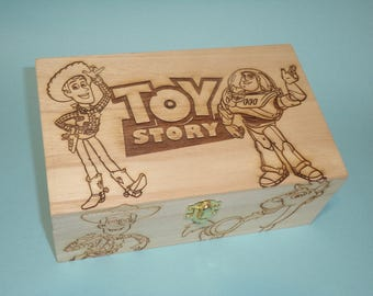 Toy Story Etched wood Trinket Box