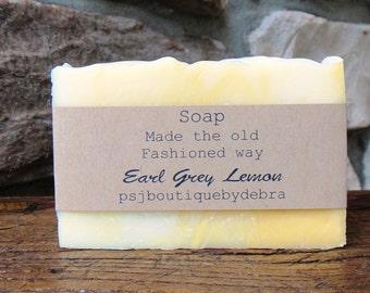 Earl Grey Soap, Handmade Soap, Moisturizing Soap, Spa Soap, Earl Grey Lemon Soap, Earl Gray Soap, Bergamot Soap, Earl Grey Bergamot Soap