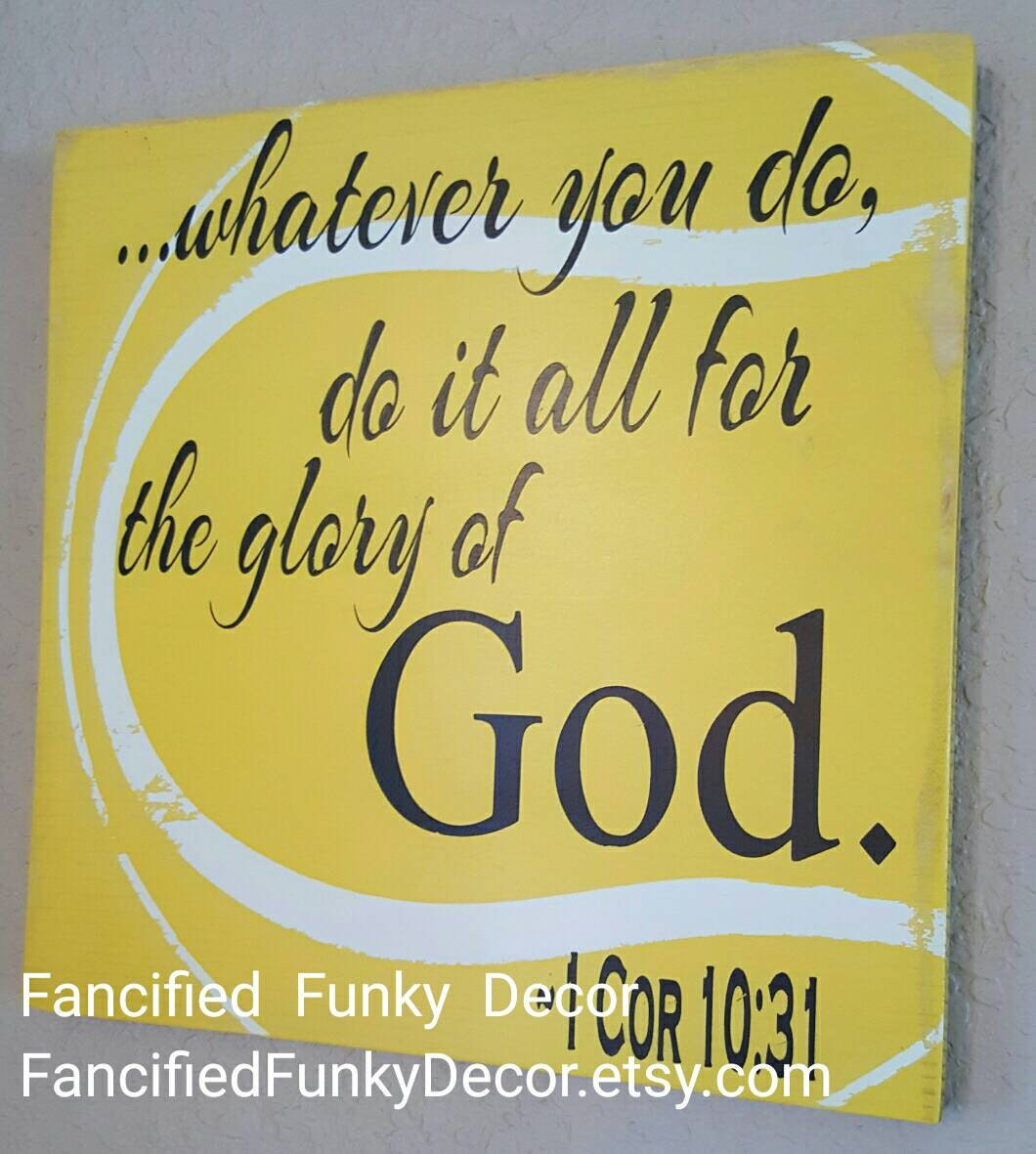 Tennis Decor Painted Tennis Sign Biblical Quote Sign