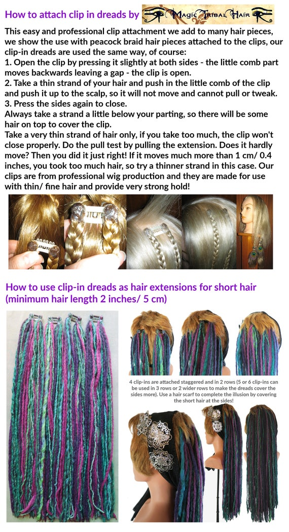 Dreadlocks For Short Hair Many Colors Gypsy Tribal Fusion
