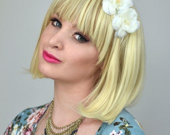 White Camellia Flower Crown Headband | White Flower Crown | Bridesmaids Headband | Bridal Headband | Festival Headband | Floral Headband