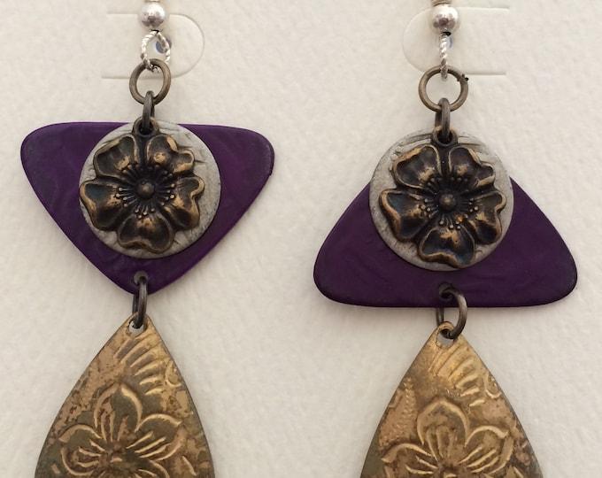 Mixed Metal Asymmetrical Earrings