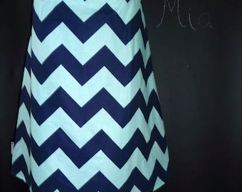 Sample SALE - Will fit Size S/M - Ready to MAIL - A-line SKIRT - Riley Blake - Chevron - by Boutique Mia