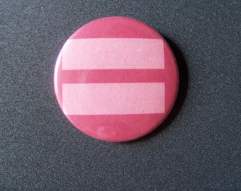Equality Button - LGBT Marriage Equality Button 1.5in Pin - Gay Pride - LGBTQIA - Gay, Lesbian, Bi, Queer, Trans, Genderqueer, Ally, love