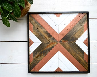Square Geometric Wall Decor - Wooden Wall Art