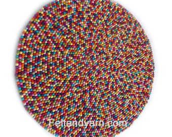 Felt ball rugs in 14 colors without white, handmade felt rugs, felted rugs, wool ball rugs, free home delivery