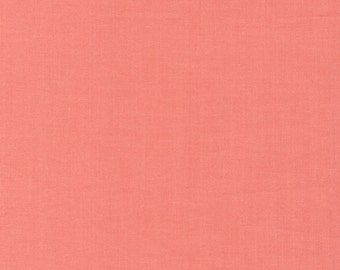 Cirrus Solids Coral Organic Cotton Quilting Fabric Broadcloth Cloud9