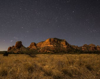 Night sky and stars, Sedona, Arizona, star art, southwest decor, arizona art, sedona photography, star photography, southwest art
