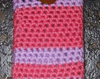 Crochet Phone Case with Button Fastner