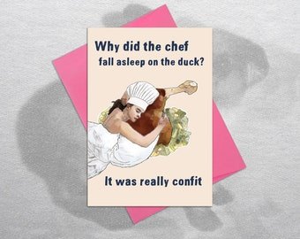 Chef card – Funny birthday card, Funny greetings card, Card for foodies, Card for chefs, Funny birthday, Funny card, Hilarious card