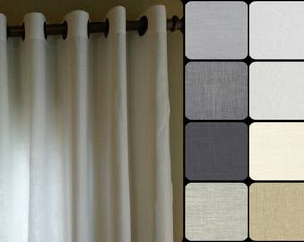 Grommet Curtains : Pair of 100% Linen Curtains in your choice of colors