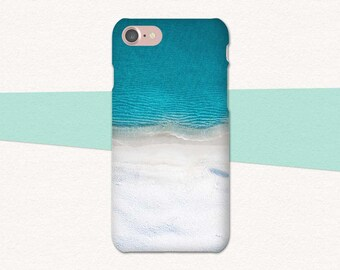 Beach Phone Case, iPhone 6 Case, Blue, Ocean Phone Case, iPhone 7 Plus Case, iPhone 6 Plus, iPhone 6s, Ocean iPhone Case, iPhone SE Summer