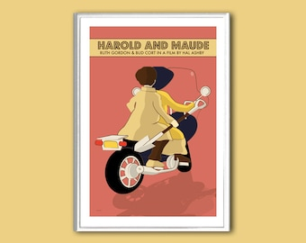 Movie poster Harold and Maude 12x18 inches retro print