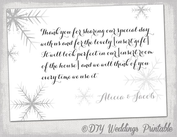 Wedding thank you card template free download samannetonic snowflake thank you card template snowflake winter wedding maxwellsz