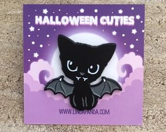 Bat Kitty Soft Enamel Lapel Pin