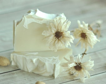Almond Soap  -  Italian Honeymoon - Natural Soap -  Organic Shea Butter Soap - Artisan Soap - Sustainable Palm Oil - Cold Process Soap