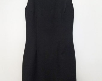 Classic Dupioni Little Black Dress