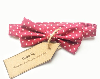 Baby boys bow tie, polka dot bow tie, red bow tie, boys bow tie, baby shower gift