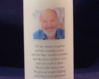 Personalised Photo Memorial Candle, Memorial Gift, Remembrance Candles, Sympathy Candle,