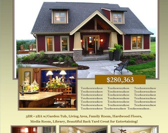 OPEN HOUSE Template Microsoft Publisher Template Home - Real estate for sale by owner templates