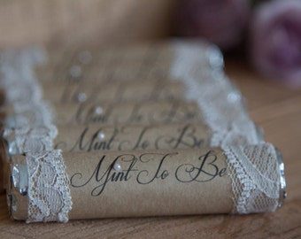 Mint to be wedding favours