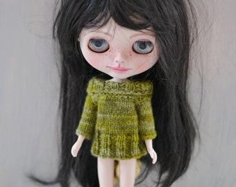 Dolls Green Multi Knitted  Jumper