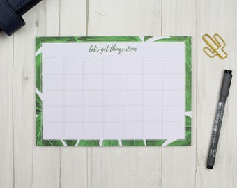 2in1 weekly plan monthly plan - A5 - desk pad notepad