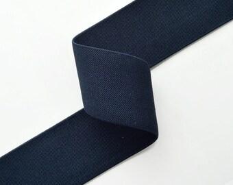 "1-7/8"" Navy Elastic Stretch Ribbon Trim, Stretch Elastic Band, headband, hand band and waist belt by 2-yards, SP-2315"