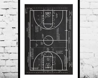 Basketball Patent, Basketball Coach Gift , Basketball Gift, Basketball Decor, Mancave decor, Gift for him, Basketball art, Basketball Court