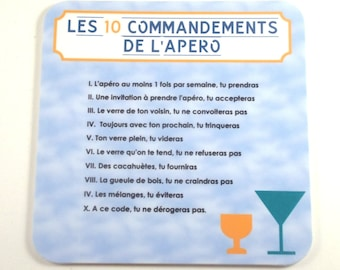 The 10 commandments of drink coaster coasters funny coaster