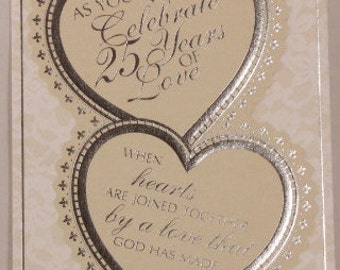 NEW! Religious 25 Year Anniversary by DaySpring . 1 Single Card with Envelope.