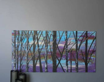 """Abstract Landscape Two 24""""x48"""" Original Abstract Painting"""