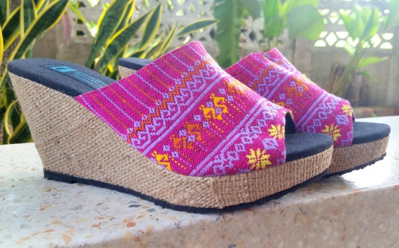 Shipping Heel Ethnic Toe Womens FREE Sandal Slip Sophie Slide Wedge Shoes Open Shoe Summer On a6at5wq