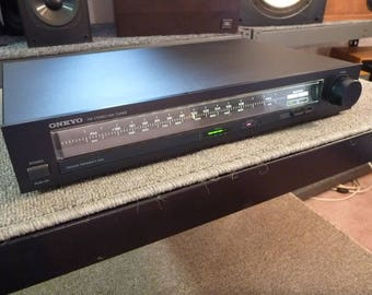 Onkyo T-22 Analog AM FM Stereo Tuner - Reconditioned and Tested