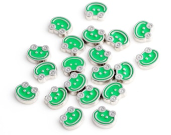 Frog Floating Charms for Living Lockets, Glass Memory Lockets