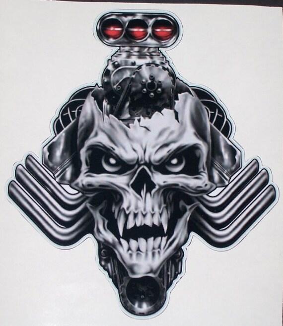 Tribal Blower Head Skull Trailer Window Decal Decals Sticker