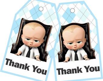 Бирки Босс Молокосос, Карточки Босс Молокосос/ Boss Baby Thank You Tags, Boss Baby Birthday Favor Tags, Boss Baby Tags