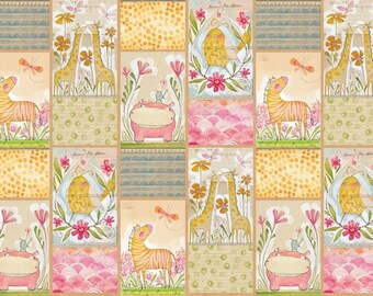 Fabric by the Yard - Hello World Mini Menagerie by Cori Dantini