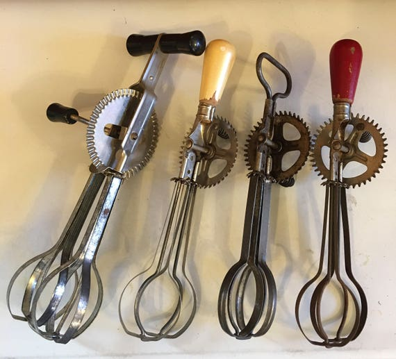 Vintage kitchen tools Manual Mixers, Egg Beaters Ekco A&J brands