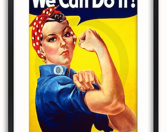 We Can Do It - Rosie the Riveter - Vintage Poster