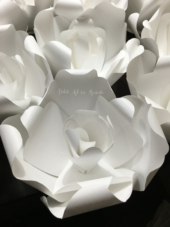 Paper Flower Escort Card, Wedding Favor, Wedding Place Setting ...