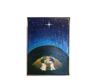 Jesus, Mary and Joseph sleeping / Jesús, José y María duermen