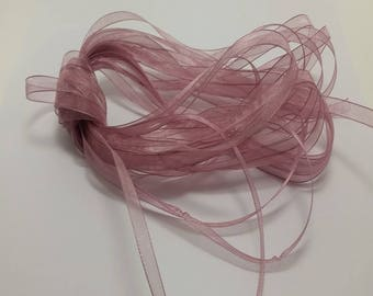 6mm LIlac Frost Organza Ribbon - Various Colour- 10Mtrs