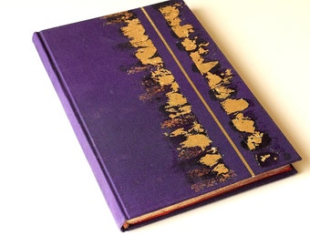 Purple Gilded Journal, Hand Gilded Journal