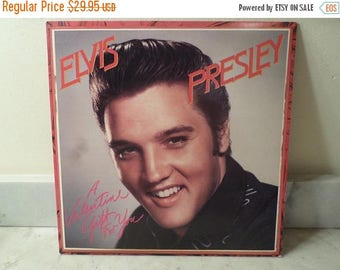 Save 30% Today Vintage 1985 Vinyl LP Record A Valentine Gift for You Elvis Presley Near Mint Condition Red Vinyl 15351