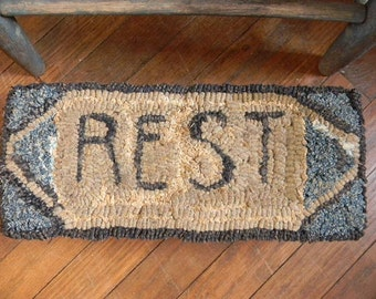 REST - rug hooking pattern - PDF - from Notforgotten Farm™