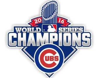 Chicago Cubs World Series Champions 2016 Decal / Sticker Die cut