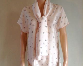 Tunic veil nude 36/38/40/42/44/46/48 printed origami