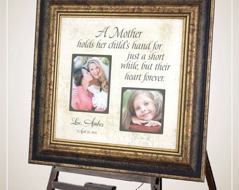 Wedding Photo Frame, Mother of the Bride Gift, Mother of the Groom Gift, A Mother Holds, Wedding Gift for mom, 16x16