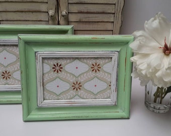 Mint Picture Frames, One frame only, Hand Painted Picture Frames Cute Nursery Frames, Mint Frames set of one only